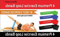 Home-Complete Exercise Resistance Loop Bands-Set of 4