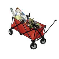 Durable Steel Folding Wagon, Red