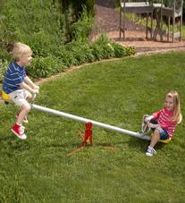 "Durable Weather-Resistant Spinning Seesaw, Metal - 80""L x 24"