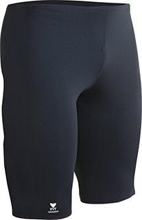 TYR Durafast Elite Swim Jammer: Black, Size 36