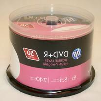 Hp Dvd+R Dl Double Layer 8X 8.5Gb White Inkjet Printable 50