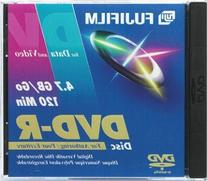FUJI DVD-R FUJI/3 8X Recordable DVD-R Discs with Jewel Cases