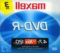 Maxell DVD-R4X/3 DVD-R 4X Speed with Jewel Case