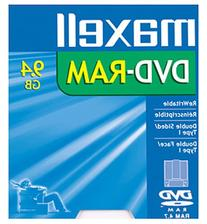 Maxell DVD-RAM Media 9.4GB Double Sided Rewritable