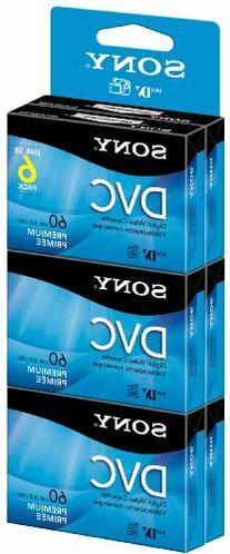 Sony DVM60PRR/6C 6-Pack 60-Minute Premium DVC with Hangtab