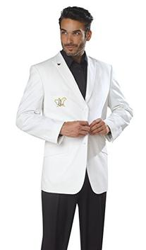 E. J. Brand White Embroidered Blazer for Suit M2572 No Vest