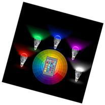 E27 LED RGB 9W Colors Change Bulb+24 Key IR Remote