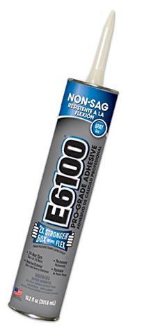 E6100 252041 Medium Viscosity Pro-Grade Adhesive Cartridge