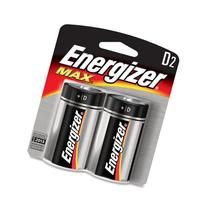"Eveready E95BP2 Energizer Alkaline Battery, ""D"" Size, 2/PK"