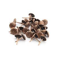 eMylo 11x16mm Metal Red Bronze Chrysanthemum nails