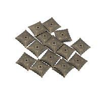 eMylo 21x21mm Antique Bronze Quartet Nailhead Upholstery