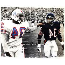Earl Campbell Autographed Walking With Walter Payton Black