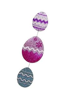 Easter Eggs Glitter Hanging Decoration 13.5 Inch