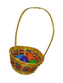 Easter Round Bamboo Basket Assortment-Includes 1; styles