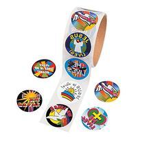 "Easter ""He Lives!"" Roll of Stickers"