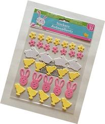 Easter Themed Sticker Set with Glitter - Flower Petals,