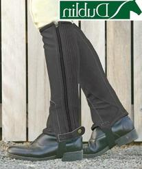 Dublin Easy Care Half Chaps Adult Small Black