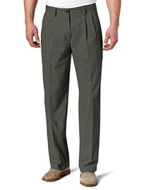Dockers Men's Easy Khaki D3 Classic Fit Pleated Pant, Umber