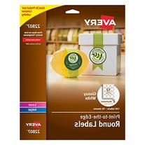 Avery Easy Peel Permanent Print-To-The-Edge Round Labels,