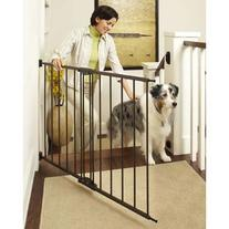 """Easy Swing and Lock Wall Mounted Matte Bronze Gate 28"""" - 48"""