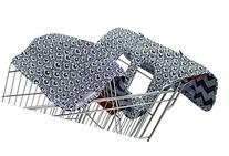 Extra-Large Easy-to-Use Blue Scallop Shopping Cart and High