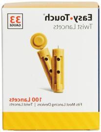EasyTouch 833101 Twist Lancet, 100 Count