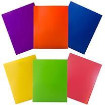 JAM Paper Plastic 2-Pocket Folders - Eco Friendly Folder -