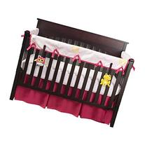 Babee Talk Eco-Teether Crib Rail Cover - 18 In. Front - Pink