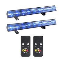 American DJ Eco UV Bar 50 IR Ultraviolet LED Black Light Fixtures w/ Remotes