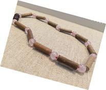 Eczema Hazelwood 13 Inch Necklace Rose Quartz Pink for
