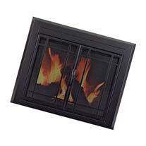 Pleasant Hearth ED-5411 Edinburg Glass Firescreen, Gunmetal