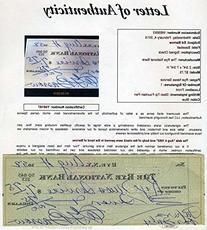 ED BARROW YANKEES HOF SIGNED JSA FULL LETTER 1952 CHECK