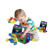 ETI Toys - 19 Piece Shape Sorter Cube with Multiple Color