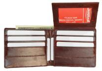 EEl Skin Bi-fold Mens Wallet Burgundy #E316