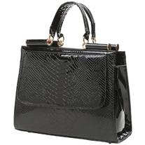MG Collection Eilis High Gloss Faux Crocodile Doctor Tote