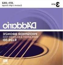D'Addario EJ26-3D Phosphor Bronze Acoustic Guitar Strings,