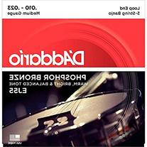 D'Addario EJ55 Phosphor Bronze 5-String Banjo Strings,