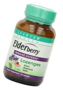 Quantum Elderberry Lozenges, 36 Raspberry Lozenges