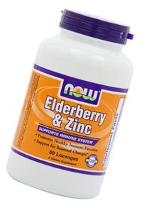 NOW Foods Elderberry and Zinc, 90 Lozenges