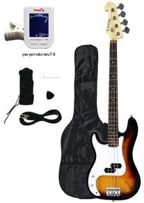 Crescent Electric Bass Guitar Starter Kit - Sunburst Color