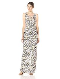 French Connection Women's Electric Mosaic Maxi, Anemone/