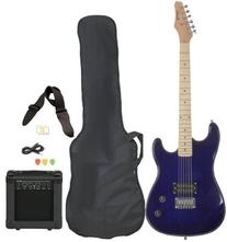 Full Size Blue Electric Guitar with Amp, Case and