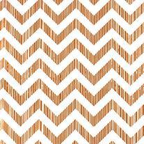 Elegant Copper Chevron Wrapping Paper - 4 Sheets