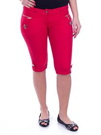 Women Elegant Cotton Capris /w Zippper Pockets