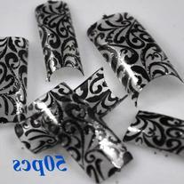 SAB nails Elegant Wide Acrylic Full Cover False Nails 50 Pcs