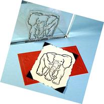 """Elephant Stamp, clear polymer cling 2.25""""x1.75"""", includes"""