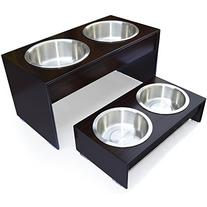 PetFusion Elevated Bamboo Dog Feeder