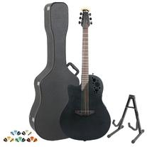 Ovation Elite 1778TX-5 Black Acoustic-Electric Guitar with