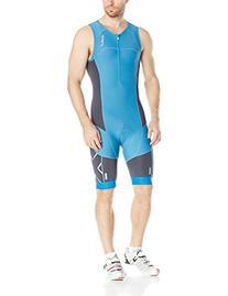 2XU Men's Elite Compression Trisuit, X-Large, Charcoal/