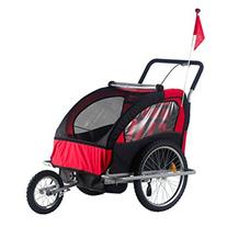 Aosom 5664-0036NEW 2-in-1 Child Bike Trailer and Stroller